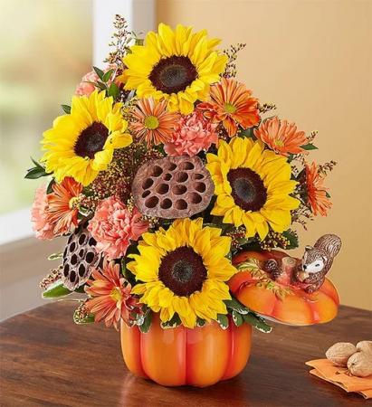 Pumpkin N' Posies™  Arrangement