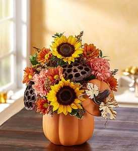 Pumpkin n' Posies Fall flowers