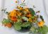 Burlap Sunflower Basket Permanent Arrangement by Inspirations Floral Studio