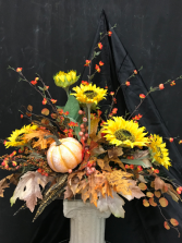PUMPKIN PATCH FALL SILK ARRANGEMENT