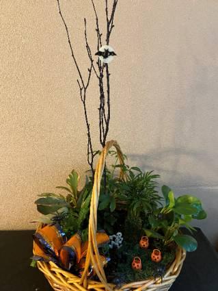 pumpkin patch planter basket