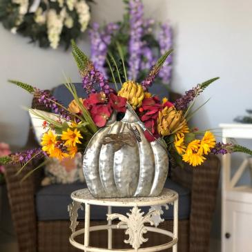 Pumpkin Patch Silk Floral Arrangement