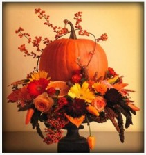 Pumpkin Pedestal Fall