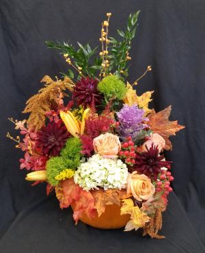 PUMPKIN PLEASURE Arrangement in Boca Raton, FL | Flowers of Boca