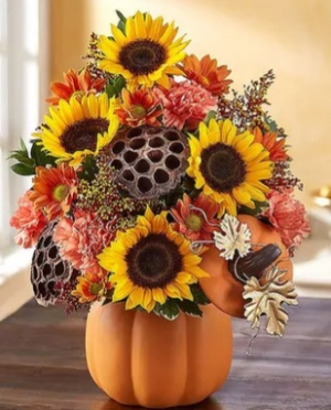 Pumpkin & Posies  in Valley City, OH | HILL HAVEN FLORIST & GREENHOUSE