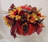 Pumpkin Silk Arrangement Fall/Harvest