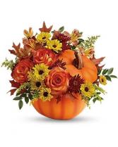 Pumpkin Spice Arrangement Fall Floral