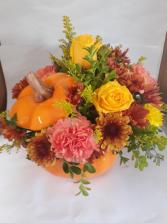 Pumpkin Spice ceramic Container