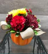 Pumpkin spice Ceramic pumpkin arrangement