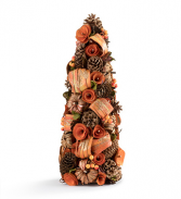 Pumpkin Spice Cone Tree Artificial Cone Tree