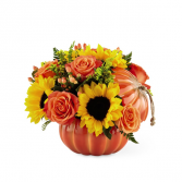Pumpkin Spice & Everything Nice Cermamic Pumpkin with lid