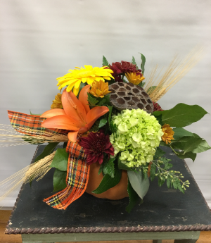 Pumpkin Spice  Floral Arrangement in Joliet, IL | LABO'S FLOWERS & GIFTS