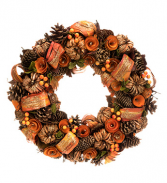 Pumpkin Spice Wreath artificial wreath