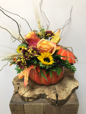 Pumpkin Thyme Fall Arrangement