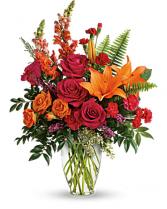 Punch Of Color Bouquet Vase Arrangement