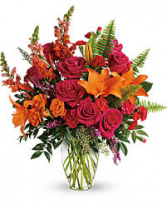 Punch of Color Colorful Fall Vase Arrangement