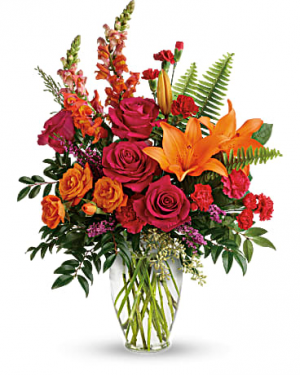 Punch of Color Vase Arrangement in Storrs, CT | THE FLOWER POT