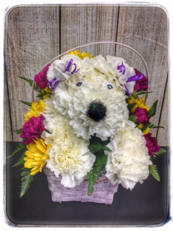 PUPPY DOG BASKET Specialty Arrangement