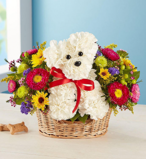Puppy Love Arrangement  in Keystone Heights, FL | FLOWER PETALS