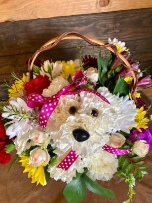 Puppy Love Basket Arrangement in Lakeside, CA   Finest City Florist