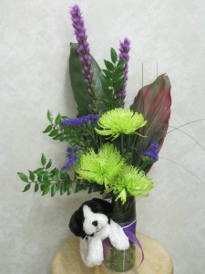 B100 - Puppy Love Bouquet Arrangement