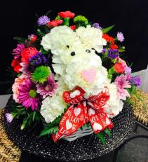 Puppy Love Valentine Flowers