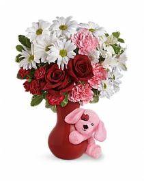 Puppy Love vase