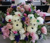 K9 Love Fresh Floral Basket