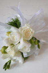 Pure and White  Corsage