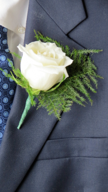 Pure Brilliance Boutonniere