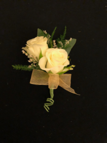 Pure Elegance Double Stack Spray Rose Boutonniere