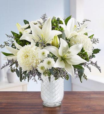 Pure Elegance White Mosaic Vase