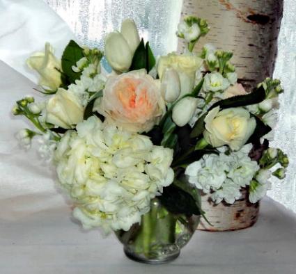 Pure Perfection vase arrangement
