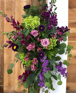 Pure Purple Punch Altar Arrangement in Ozone Park, NY | Heavenly Florist