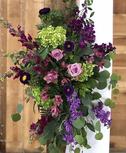 Pure Purple Punch Altar Arrangement