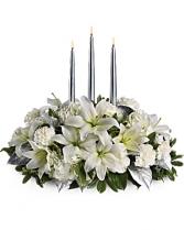 Pure Sliver  Candle Centerpiece