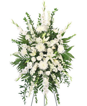 Pure Solace Standing Spray in Selma, NC | Selma Florist