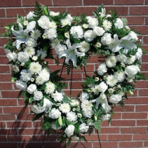 Pure White Heart Wreath