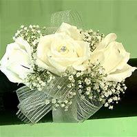 Pure White Prom Corsage