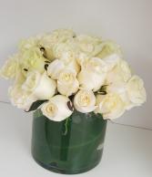 Pure White Romance Rose Arrangement