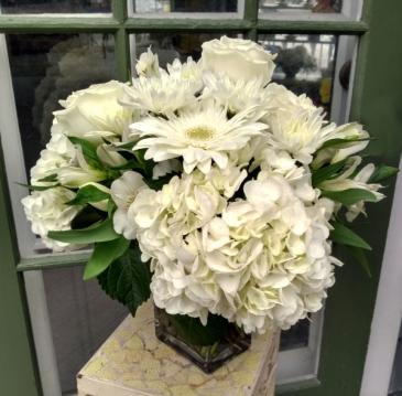 Pure White Vase Arrangement