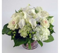 Pure White Vase Arrangement