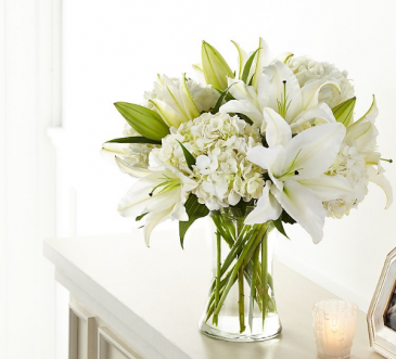 Purely Elegant  Fresh arrangement in a vase