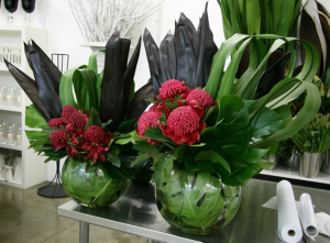 Tropical Rounds  Display  in Oakville, ON | ANN'S FLOWER BOUTIQUE-Wedding & Event Florist