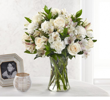 Purely precious  Fresh arrangement in a vase