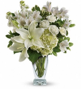 Purest Love Bouquet       TEV30-2 Vase Arrangement