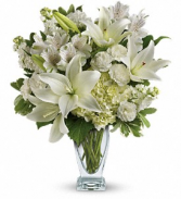 Purest Love Bouquet Vase Arrangement