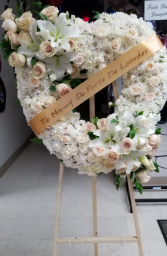 Purest Love Heart Funeral Wreath