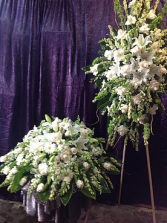 CUSTOM 2 PC. WHITE FUNERAL PACKAGE NOW AVAILABLE TO THE PUBLIC!!