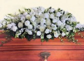 Purity and Peace Casket Flowers